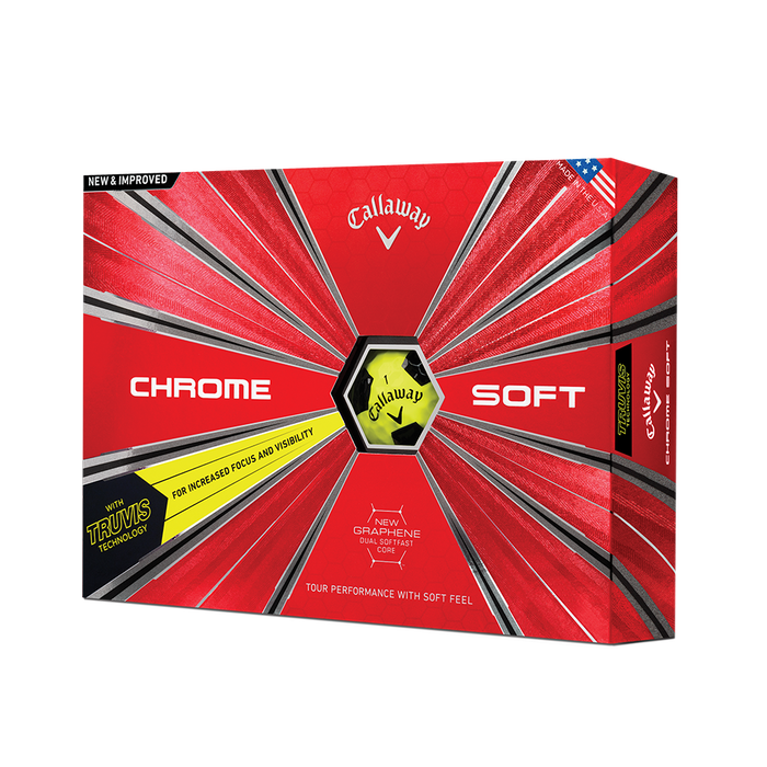 2018 Chrome Soft Truvis Yellow Golf Balls