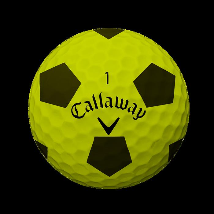 La nouvelle balle de golf Chrome Soft Truvis Jaune