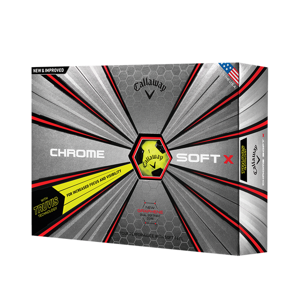 La nouvelle balle de golf Chrome Soft X Truvis Jaune Technology Item