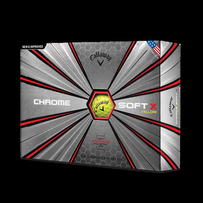 La nouvelle balle de golf Chrome Soft X Jaune