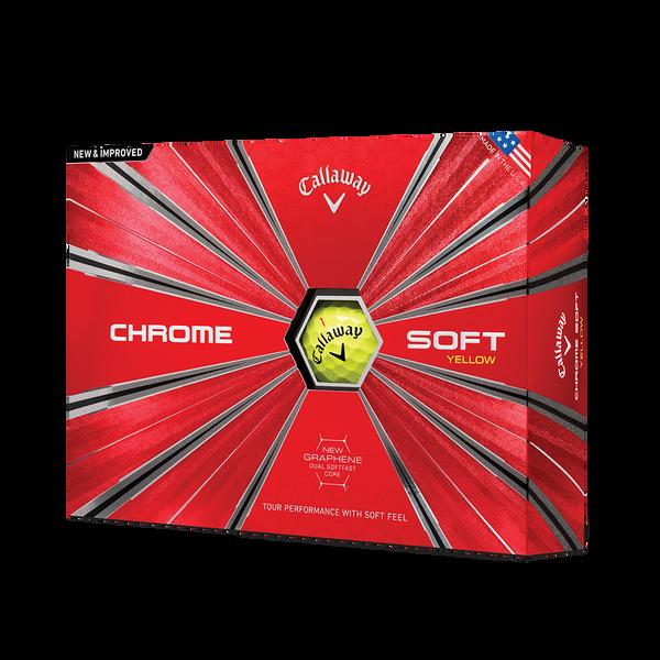 La nouvelle balle de golf Chrome Soft Jaune Technology Item