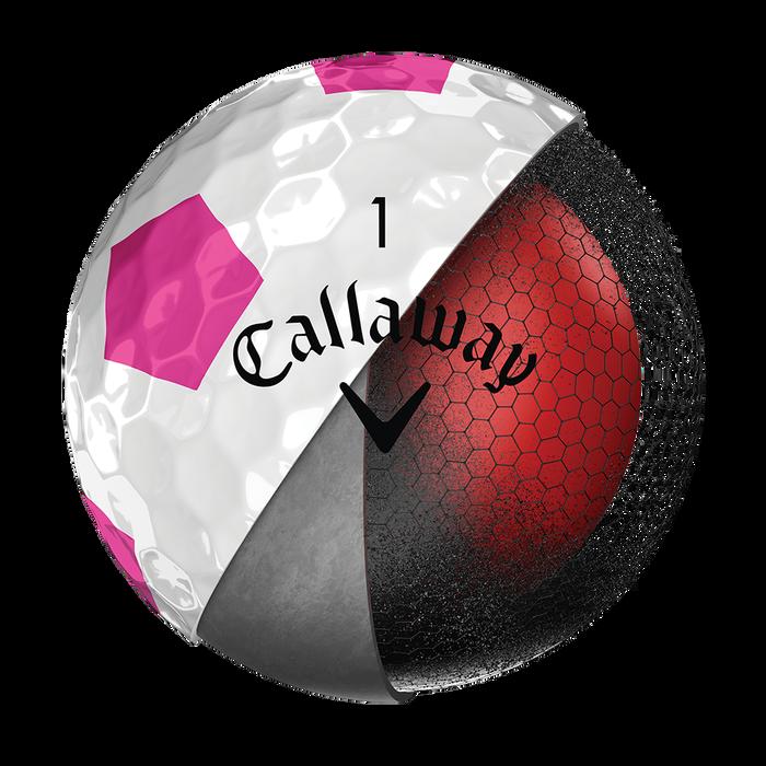 La nouvelle balle de golf Chrome Soft Truvis rose
