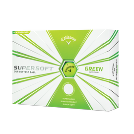 Supersoft Matte Green Golf Balls