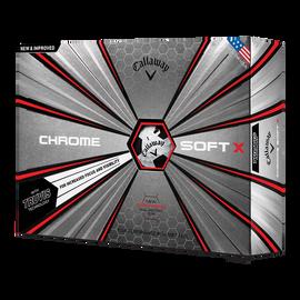 La nouvelle balle de golf Chrome Soft Truvis X Noir