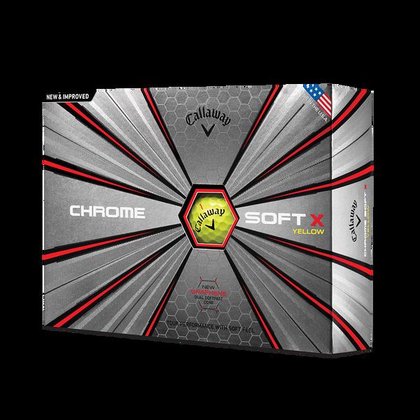 La nouvelle balle de golf Chrome Soft X Jaune Technology Item